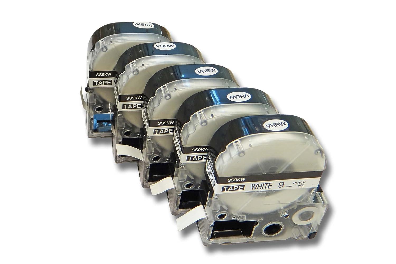 SS9KW. OK300 OK900P come LC-3WBN OK500P OK720 vhbw 5 x Cartucce a cassetta 9mm per Epson Prifia OK200