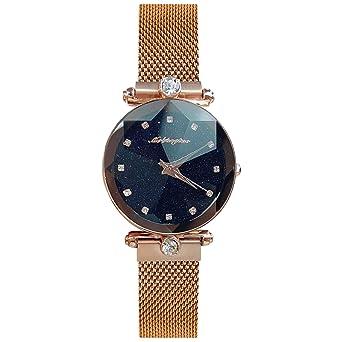 07022baaa9 RORIOS 女性 レディース 腕時計 星空 人気 時計 磁気メッシュバンド キラキラ ラインストン おしゃれ ファッション ウォッチ