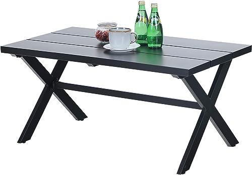 PHI VILLA Small Metal Outdoor Coffee Side Table