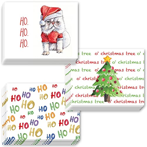 Amazon pack of 24 holiday greeting cards 3 assorted fun pack of 24 holiday greeting cards 3 assorted fun christmas season designs envelopes included m4hsunfo
