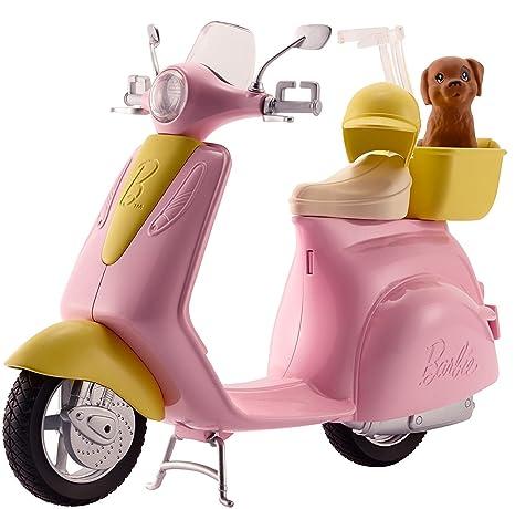 Moto Scooter Barbie De Muñeca Rosa Perritomattel Dvx56 Y eE9YWbD2IH