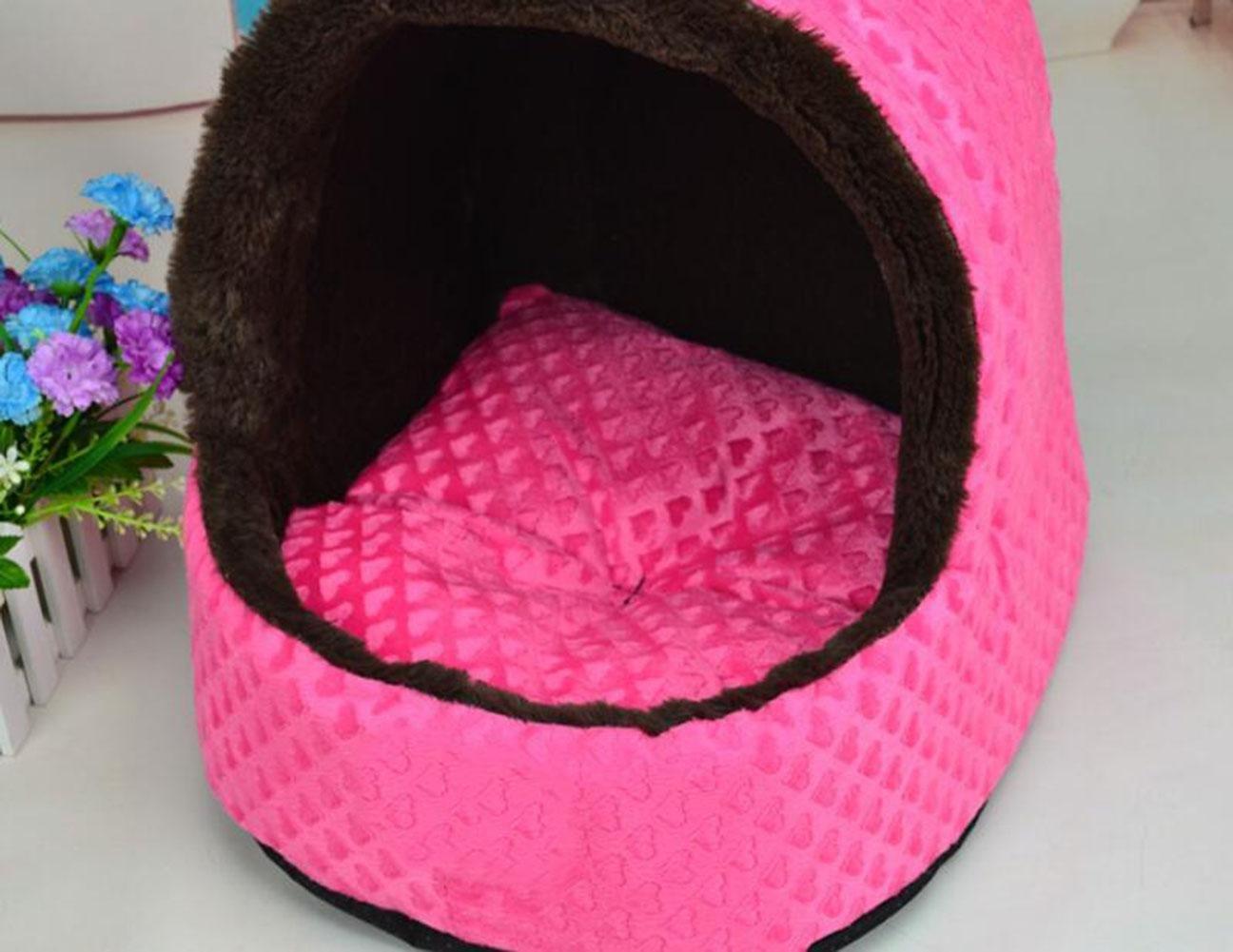 CHWWO Cucciolo del cane del cane del cucciolo dell'animale domestico Cuscino dell'animale domestico del gatto della nave dell'orso della peluche Caldo pieghevole molle, rosa