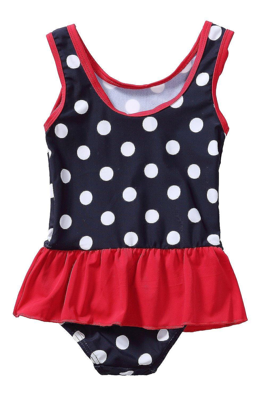 CharmLeaks Baby Girls One Piece Swimsuit Toddler Swimwear Bathing Suits