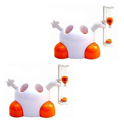 Lantelme 7281 Juego 2 Unidades Soporte Cepillo de Dientes para niños Color Blanco/Naranja con