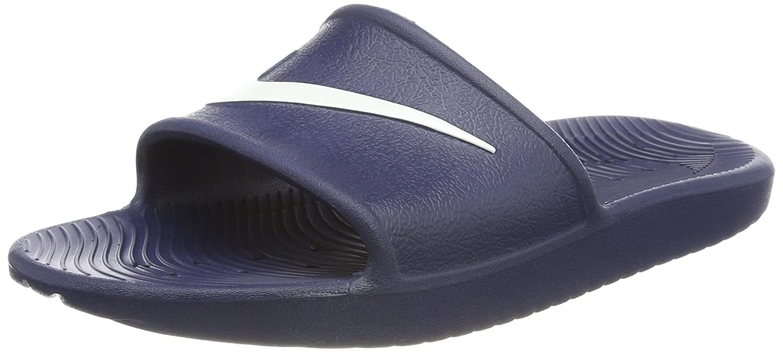 Nike Herren Kawa Shower Dusch- Badeschuhe  44 EU|Blau (Midnight Navy/White 400)