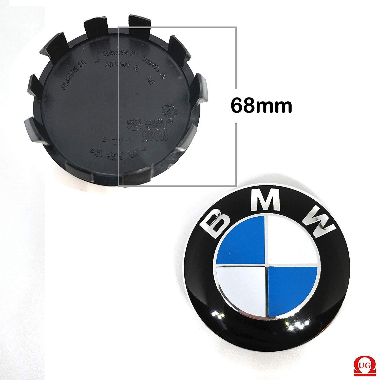 UG Lot de 4 Cache-moyeux compatibles avec BMW 68 mm S/érie 1 2 3 4 5 6 7 M Z pour Jantes en Alliage 4 Bouchons de Valve offerts