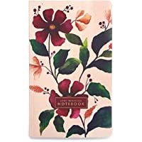 7mm™ Lively Botanicals (Spring), 144 Pages, Softbound Notebook, Gold Edges, 12.5 x 21 cms, Ruled