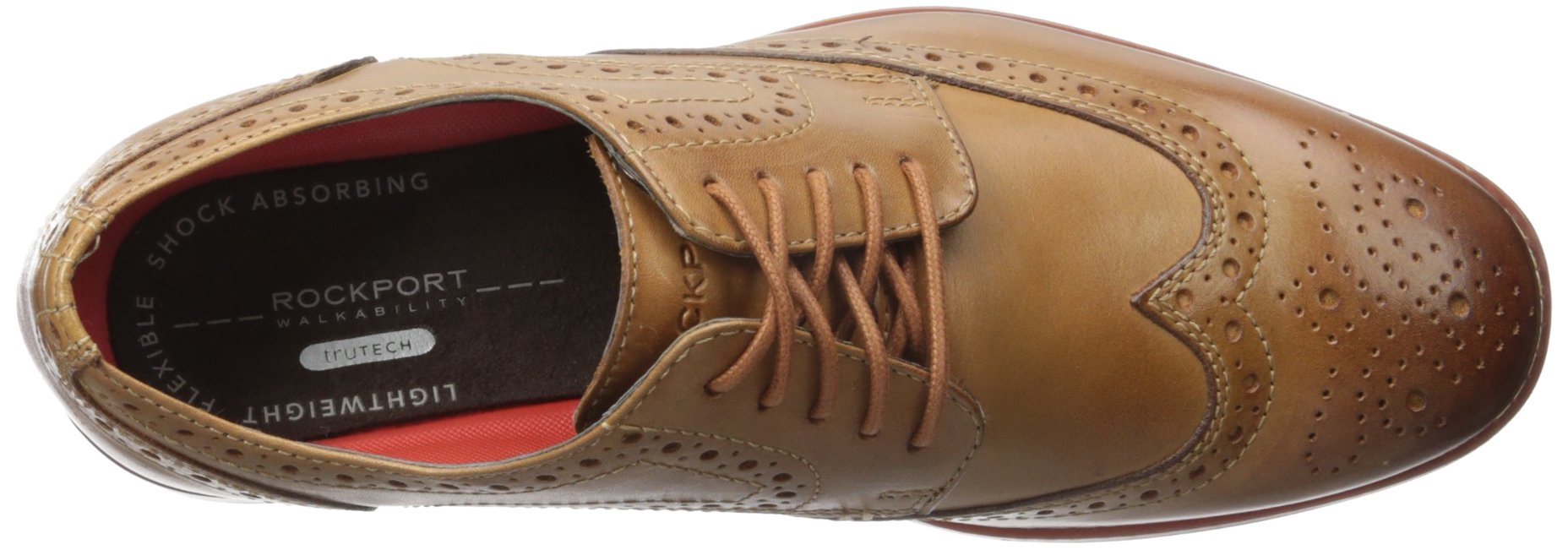 Rockport Men's Style Purpose Wing Tip Tan- 6.5 2w Us-6.5 W by Rockport (Image #8)