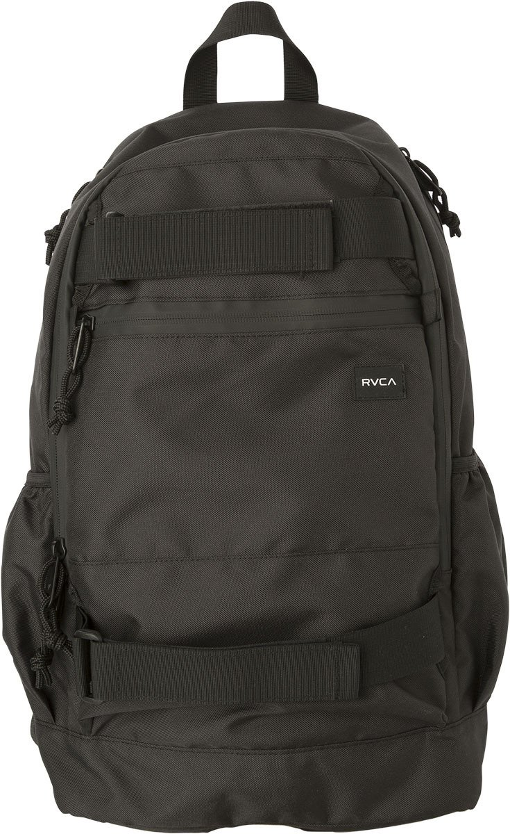 RVCA Unisex Push Skate Deluxe Backpack, Black, One Size