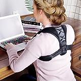 Haltungskorrektur Rücken Unisex Geradehalter Band verstellbarer Schulter Gürtel Schwarz für Damen und Herren Atmungsaktiv
