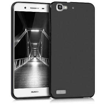 kwmobile Funda para Huawei GR3 / P8 Lite Smart - Carcasa para móvil en TPU Silicona - Protector Trasero en Negro Mate