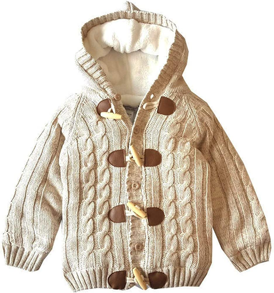 JGJSTAR Baby Toddler Girls Dog Pattern Knit Cardigan Sweater Cotton Tops 1-4T