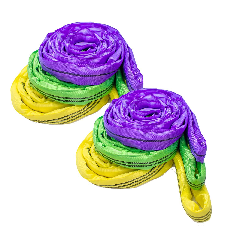 everfarel 6X Round Sling Lifting Straps Pop Up Chlinge 1//2//3//2//3//4 M Circumference