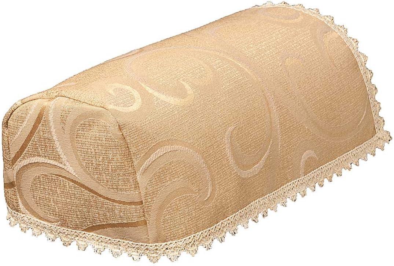LINEN702 Juego de 2 fundas para reposabrazos de silla (estrecho), protectores para sofá y sillas en un diseño de enredadera de jacquard tejido de ...