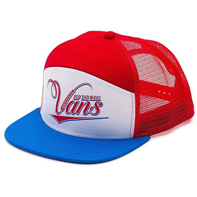 Vans Off The Wall Men s Suds 6 Panel Trucker Hat Cap - Racing Red ... 92d6db1a2360