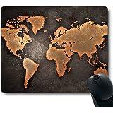 Vintage Black World Map Antique Decorate Mouse pad