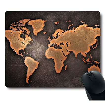 Amazon vintage black world map antique decorate mouse pad vintage black world map antique decorate mouse pad gumiabroncs Gallery
