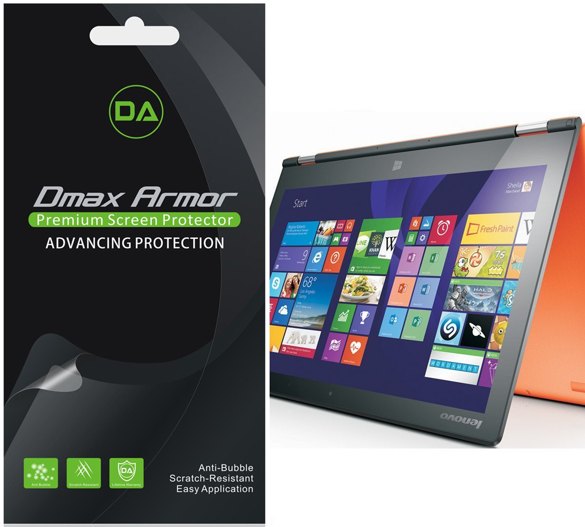 [3-Pack] Dmax Armor for Lenovo Yoga 2 11.6