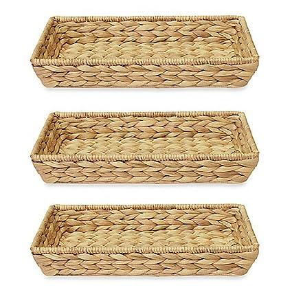 Jacinto de agua Natural hecha a mano toalla de invitados de cesta de mimbre