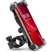 Bike Phone Mount, TEUMI Anti-Shake Bicycle Motorcycle Phone Holder 360° Rotation Universal Cradle Clamp Compatible with…