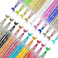20 Acrylstiften Marker Stiften,0.7 mm Acrylverf,Waterbestendig,Marker Hout Stift,kleur Voor Het Beschilderen Van Stenen…