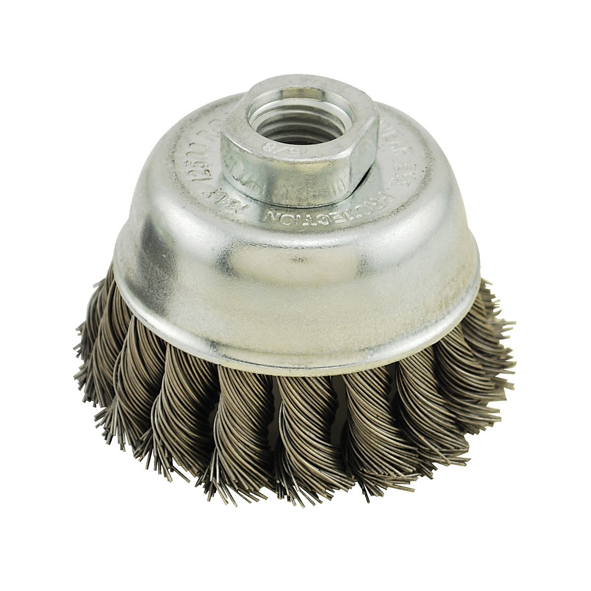 IVY Classic 38901 3 Inch x 5 8 Inch 11 Arbor Stainless Steel Knot Wire Cup Brush 0.020 Inch Coarse 1 Card