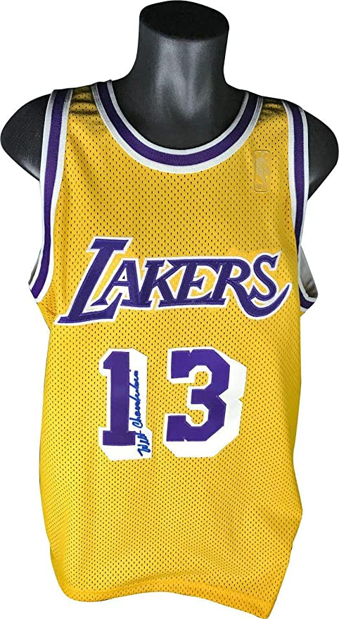 8124b78a2 Wilt Chamberlain Autographed Jersey - LA RARE - PSA DNA Certified - Autographed  NBA Jerseys