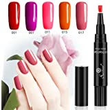 One Step gel nail polish Pen, no need base top coat, Saviland 3 in 1 UV LED soak off smalto per unghie nail art kit