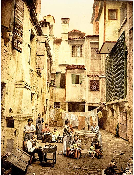 Amazon Com Wee Blue Coo Vintage Old Venetian Courtyard Venice
