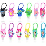 AITIME Hand Sanitizer Holders for Backpack, keychain Empty Refillable Travel Size Lotion Bottles, Cute Plastic Liquid…