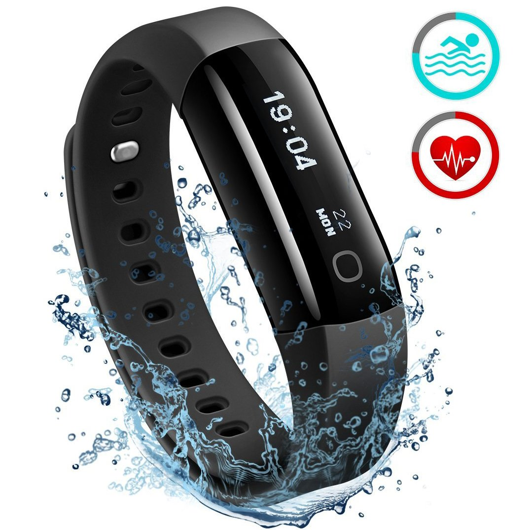 65dad91f64468 Fitness Tracker   Updated Version  Mpow IP68 Waterproof Heart Rate Tracker  Smart Swimming Fitness Wristband Health Tracker Activity Tracker Pedometer  with ...