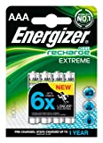 Energizer Accu Recharge 800MAh AAA Extreme 1.2V Batteries, 4 Batteries
