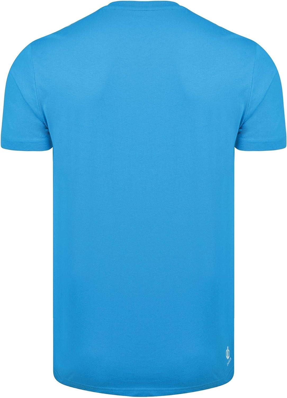 Dare 2b Herren Dynamism Cotton Ribbed Collar Graphic Print T-Shirt