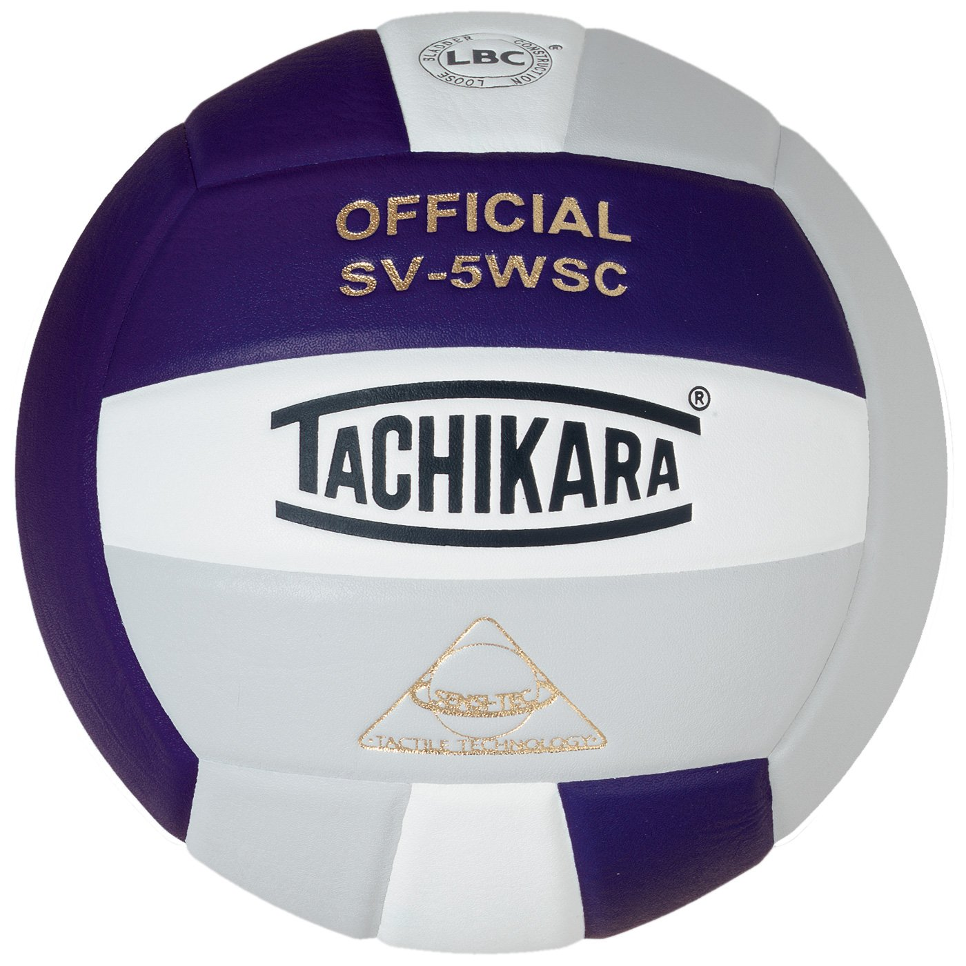 Tachikara Sensi-Tec Composite High Performance Volleyball (Purple/White/Silver Gray) by TACHIKARA