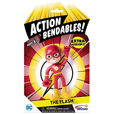 "NJ Croce AB 5004 Action Bendable The Flash, 4"", Figure: Toys & Games"