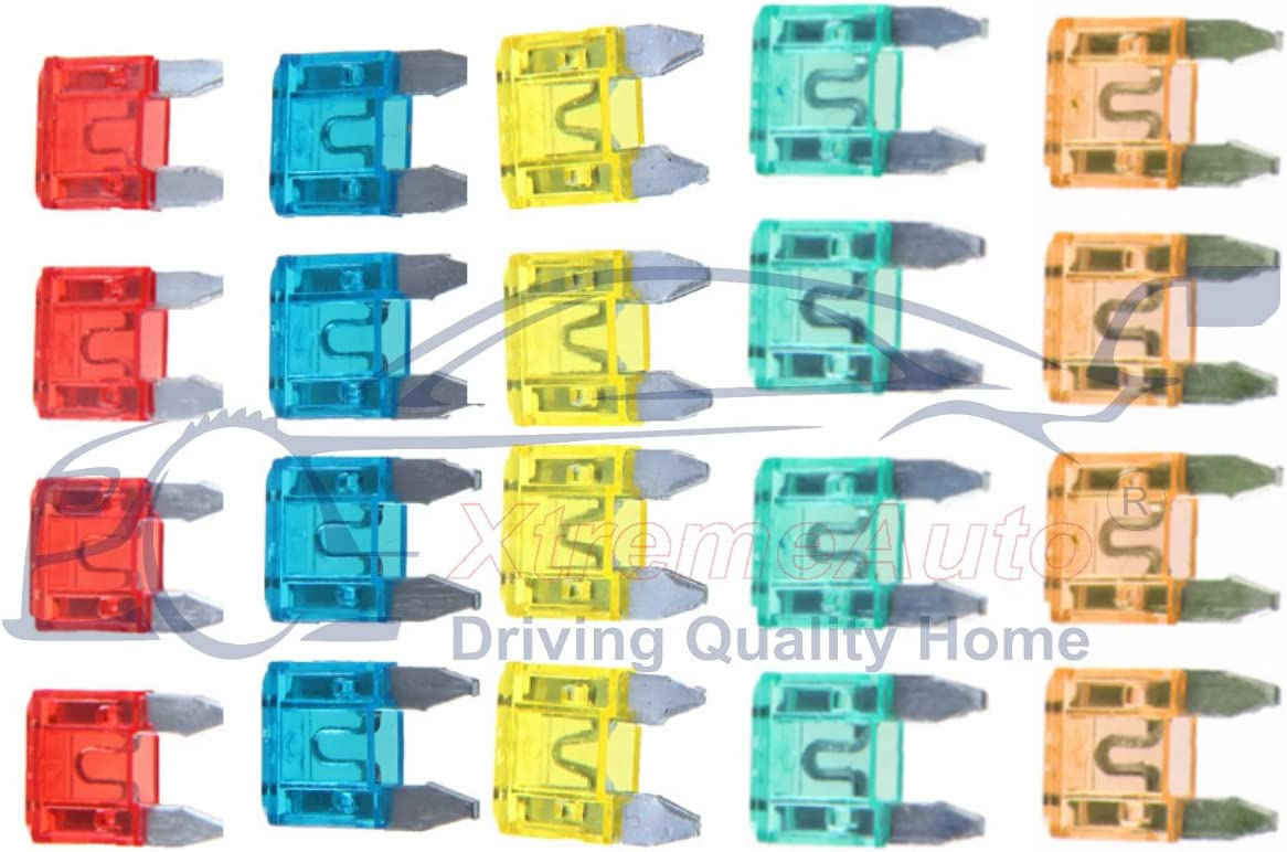 Audi A3 SPORT BACK CAR BLADE MINI STANDARD FUSE BOX KIT 5 10 15 20 25 30 AMP