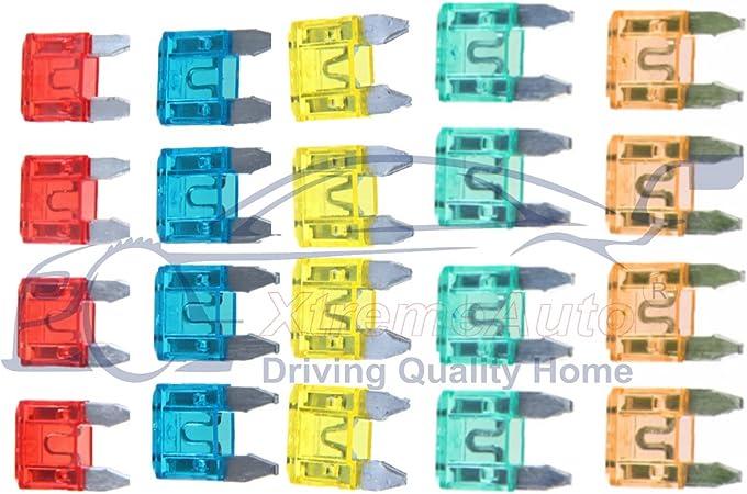 CITROEN CARS FUSES SET ASSORTMENT STANDARD BLADE*5 7.5 10 15 20 25 30 AMP*