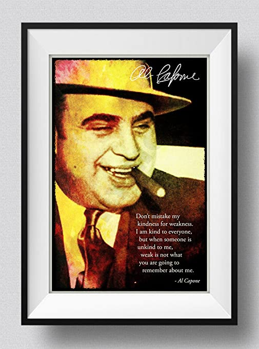 Al Capone Art Print Photo Poster Gift Quote Prohibition
