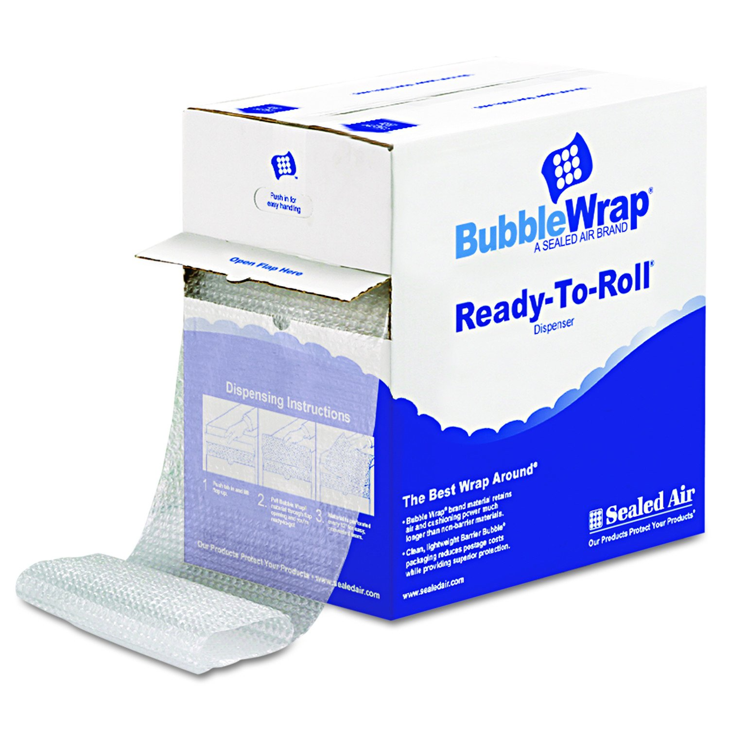 Sealed Air 90065 Bubble Wrap, Cushion Bubble Roll, 1/2 Inch Thick, 12 Inches x 65 Feet Sealed Air Corp.