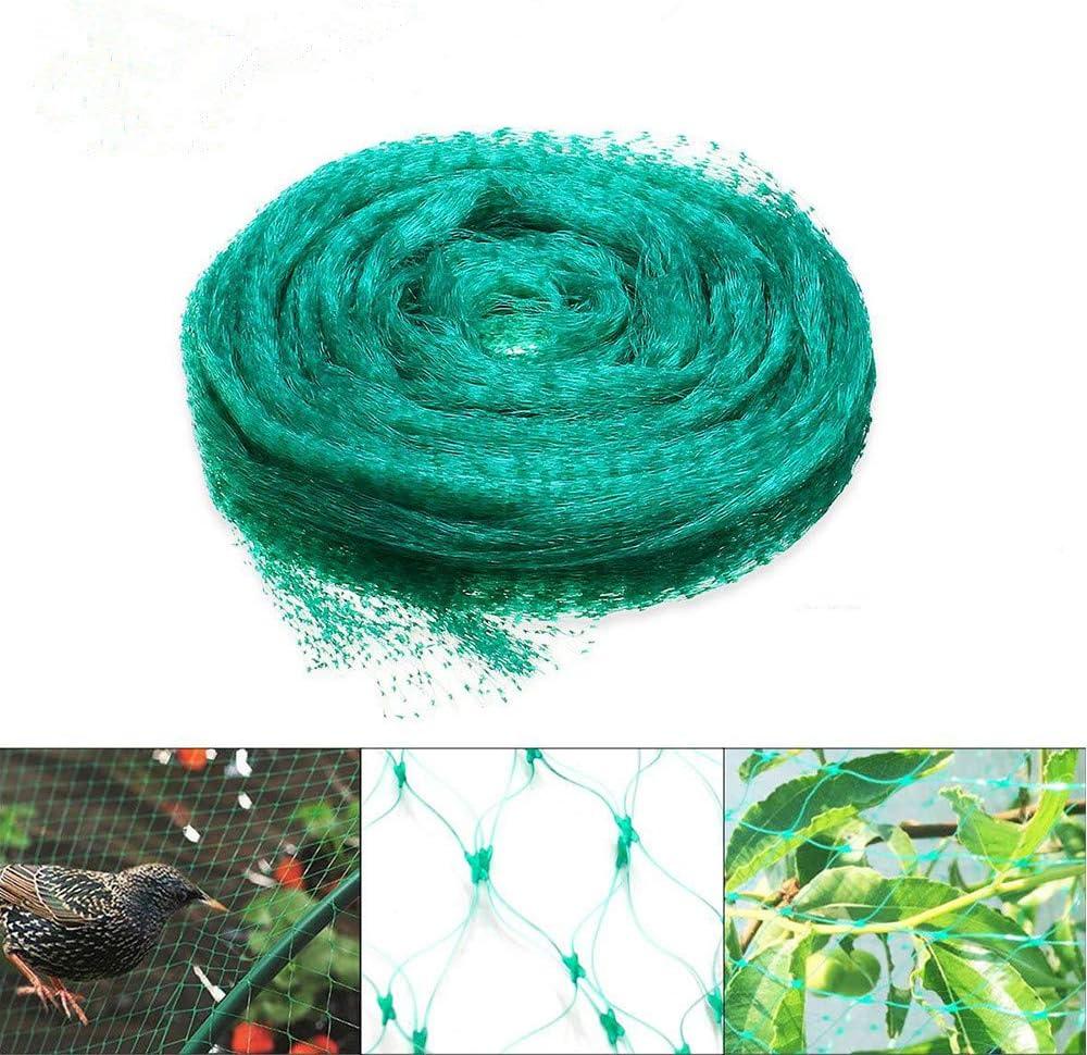 Fuleewoo Garden Mesh Anti Bird Net NylonTrellis Used for Bird Netting Potted Plant Fence Climbing Bean Flower Vines Petunia (5mx10m)