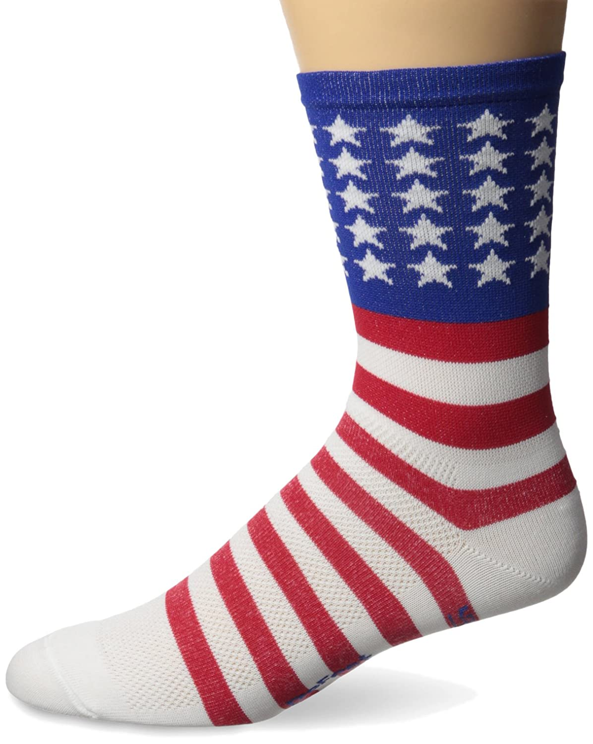 DEFEET Aireator USA with Stars and Bars 5 Cuff Socks Pro-Motion Distributing Direct AIRTUSA301