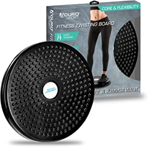 Aduro Sport Exercise Twist Board, Ankle Body Aerobic and Cardio Exercise Twist Board with Precision Ball-Bearing, Foot Massage, and Rotating Non-Slip Safety Platform, Wobble Fitness Fit Waist Exercise