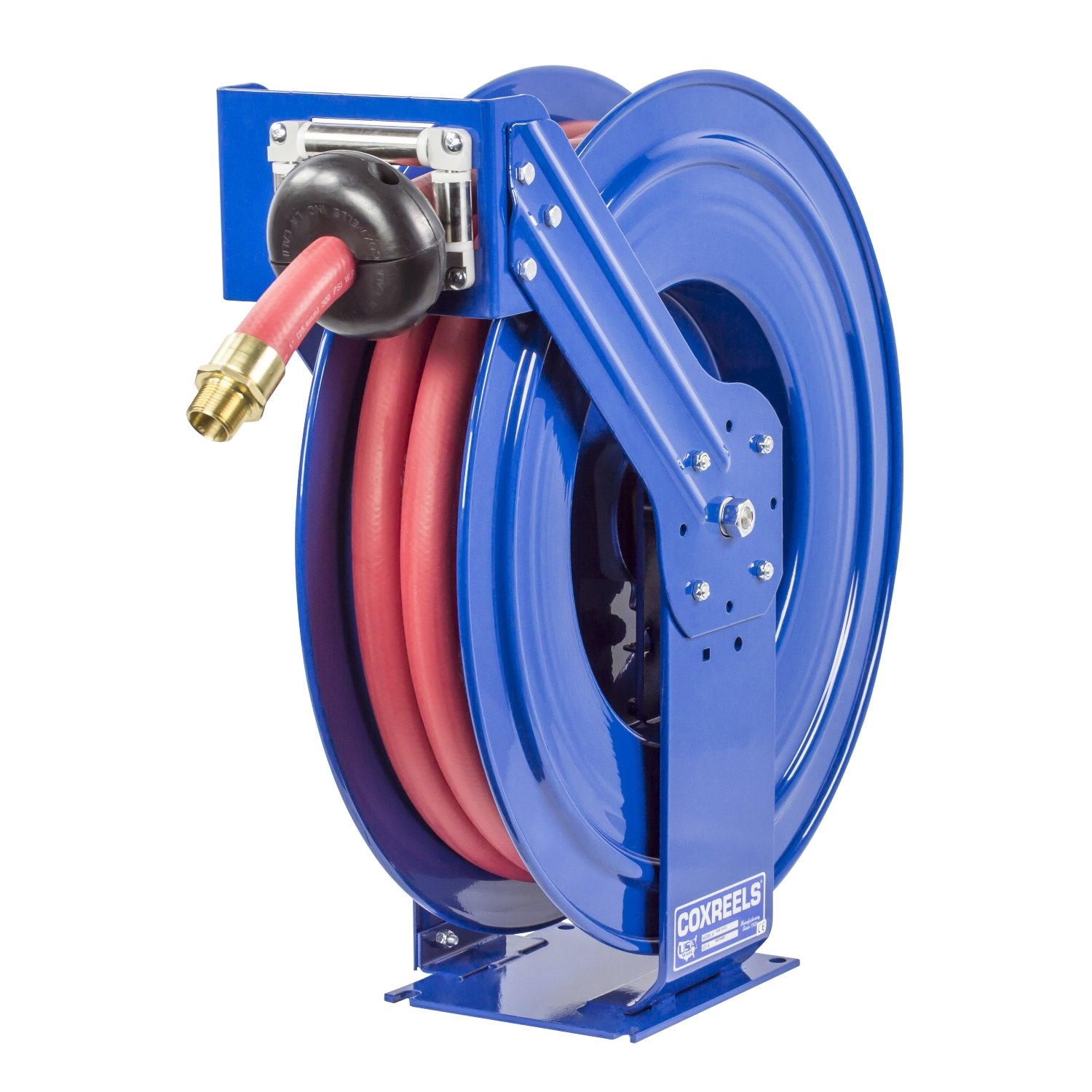 Coxreels Spring-Driven Fuel Hose Reel with Hose, Model# TSHF-N-550, 3/4'' Hose ID, 50' Length