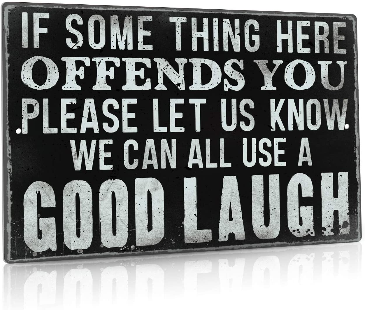 Putuo Decor Funny Sarcastic Metal Tin Sign Man Cave Bar Decor If Some Thing Here Offends You Please Let Us Know 12 x 8 Inches