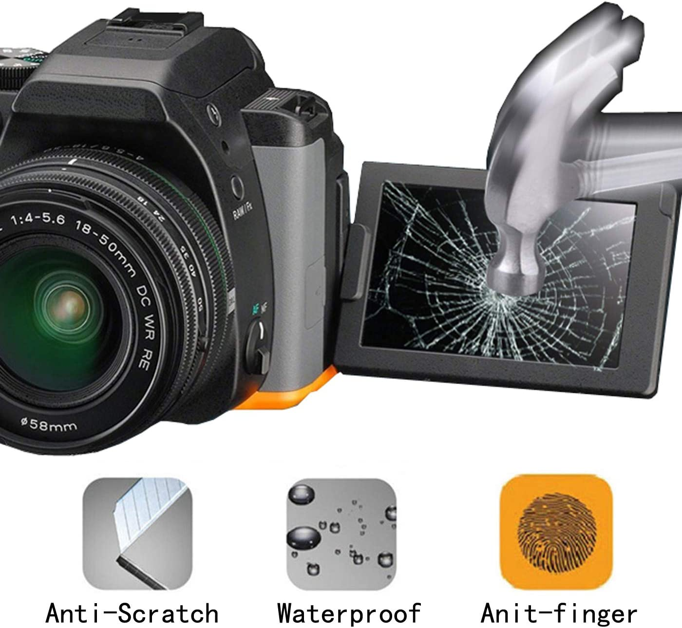 3pack Glass Screen Protector Compatible for Canon Powershot sx740 hs sx730 hs,debous Clear Tempered Glass Hard Protective Shield Film Cover
