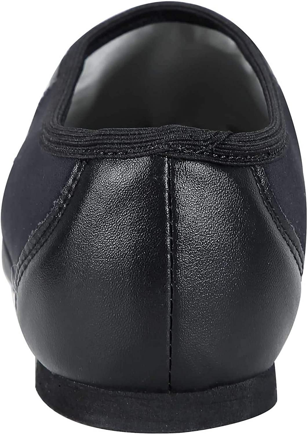 Toddler//Little Kid//Big Kid Linodes PU Leather Jazz Shoe Slip On Dance Shoes with Circle Elastic for Girls and Boys