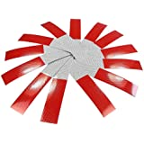 Dealglad® 20pcs Car Truck Trailer Self-adhesive Conspicuity Red/White Reflective Safety Strip Sticker Caution Warning Tape