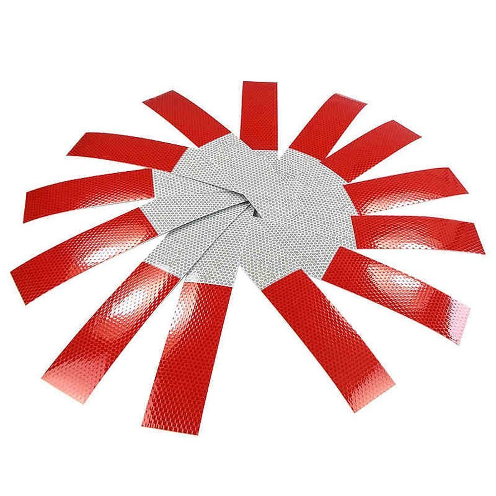 Red//White ANKI 10Pcs DOT-C2 2 X 10 Red//White Reflective Tape Conspicuity Safety Caution Warning Sticker for Car Truck Trailer Mailbox