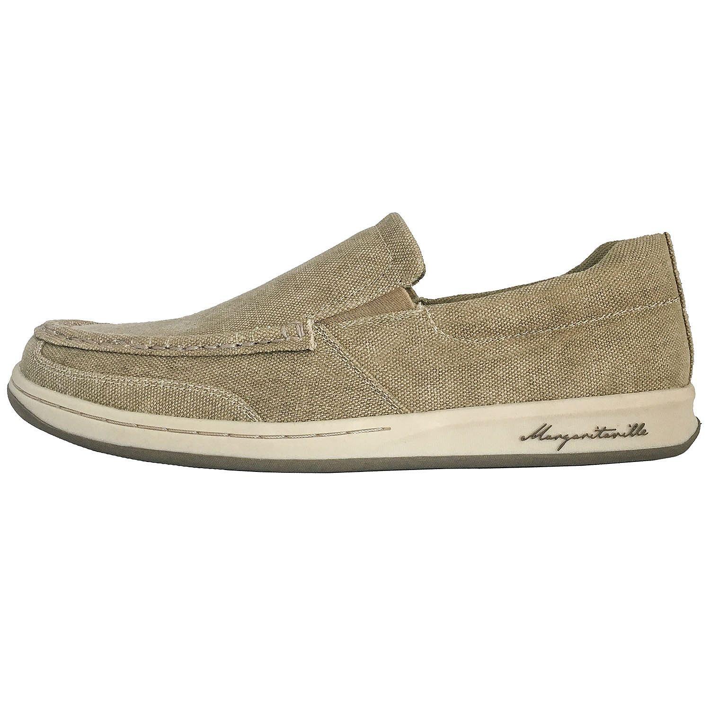 c4a3349dc4e65 Amazon.com   Margaritaville Men's Canvas Slip On Boat Shoe (9.5 B(M) US,  Light Tan)   Shoes