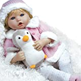 Reborn Like Baby Doll that Looks Real, Paradise Galleries Penguin Baby Doll Made in Silicone-Like Vinyl and Weighted Body, 22 inch